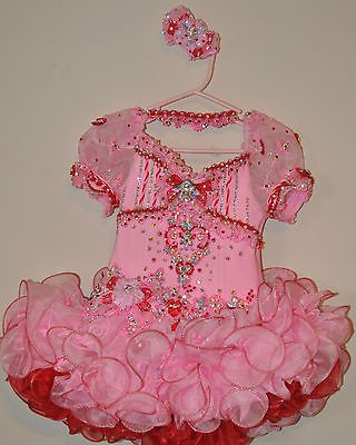 Glitz Pageant Dress (Red and Pink, Valentine's Day)