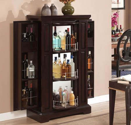 Liquor Cabinet Locking Bar Cabinet