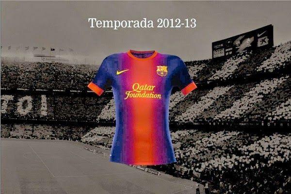 Camisas del barcelona para la temporada 2012 - 2013
