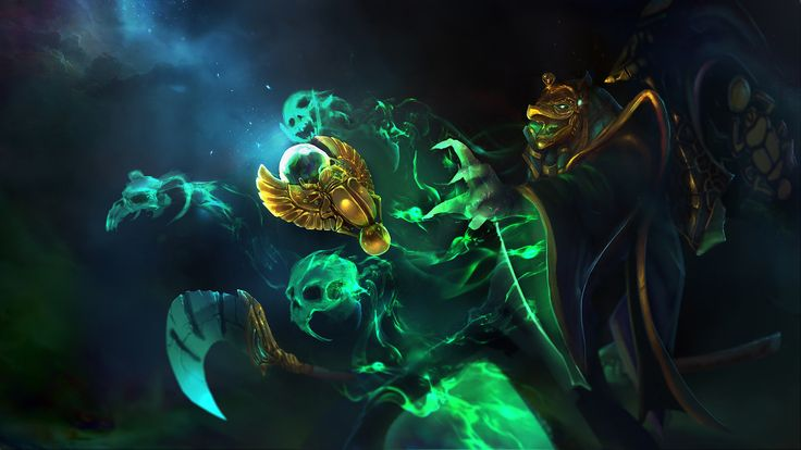 Dota 2 - Necrophos set Loading screen by TrungTH (a set for Necrophos, check this set out on workshop)