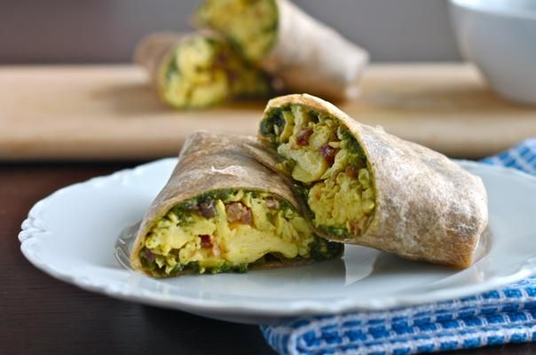 Green eggs & ham breakfast burrito