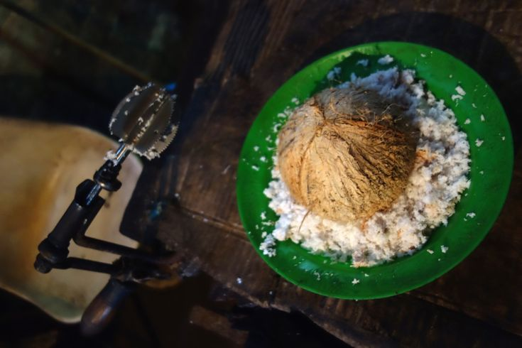 Traditional Sri Lankan coconut grater - Authentic World Food.
