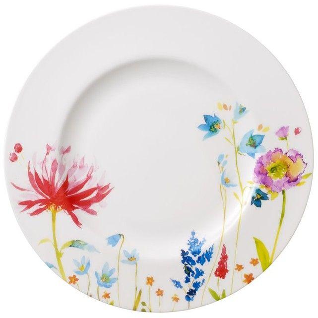4 pièces Rosenthal Vaisselle-Set Assiettes Brillance Fleurs Sauvage