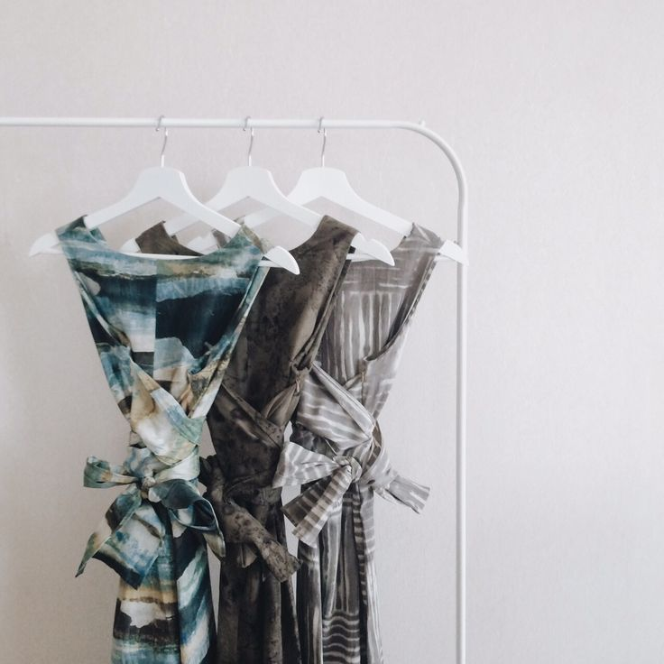 Jumpsuits in three prints, left to right: Camouflage, Cherry Leaves, Brown Lines.   www.imajistudio.co