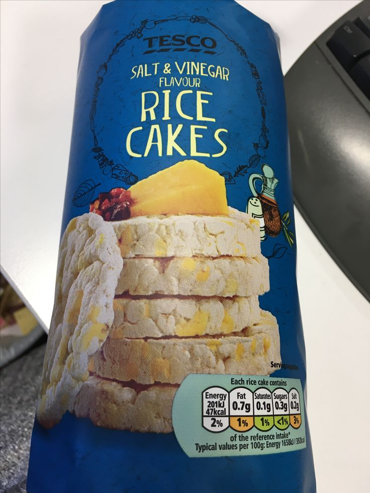 Tesco Salt And Vinegar Rice Cakes 2 5 Syns Each In 2019