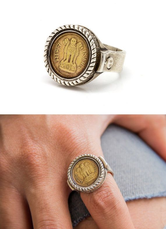 Silver Pound Coin Ring