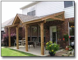 Covered patio ideas patio covers dallas patio roof for Shed roof covered porch