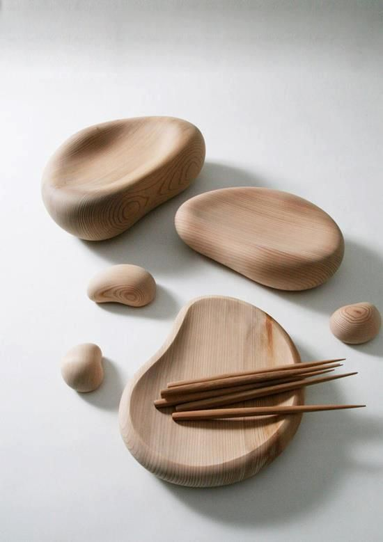 Beautiful wood tableware :)  designed by Masayuki Kurokawa