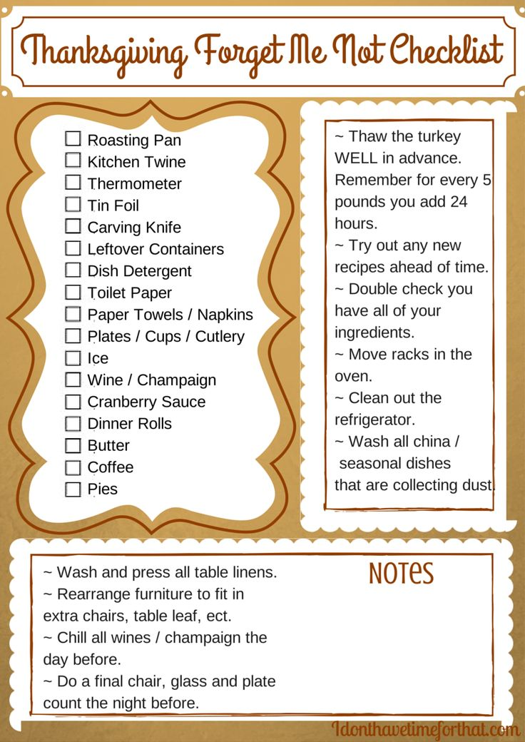Don't forget another thing this Thanksgiving. It's time to finally have the seamless Thanksgiving your always praying for. Print your free Thanksgiving Forget Me Not Checklist now!