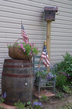 primitive garden decor - Google Search