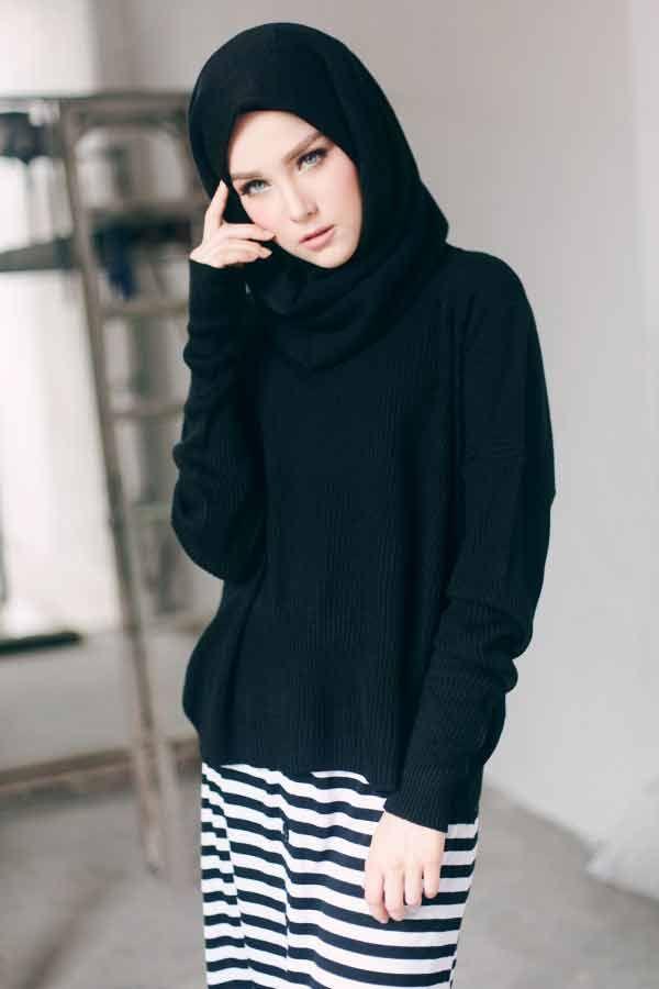 cute black scarf arabian and pakistani hijab styles trend 2017 2018