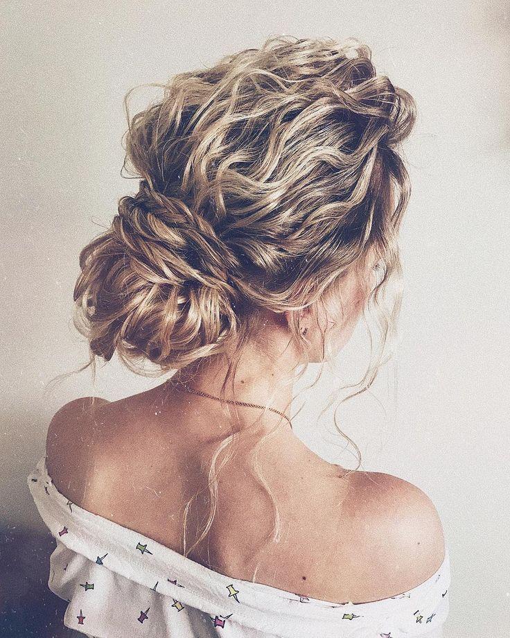 Texturierte Hochzeit Hochsteckfrisur, chaotisch Hochsteckfrisuren, Chignon, chaotisch …   – Hair-DOs