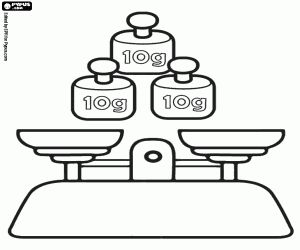 The weighing in the laboratory coloring page
