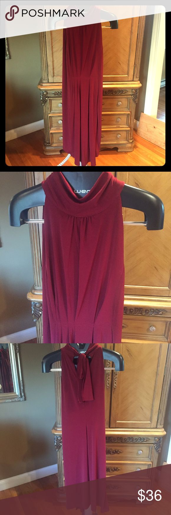 NY&Co Red Dress - sangria color Brand new beautiful dress from New York and Company. Goes a little past the knee, great for events, weddings, work, etc! New York & Company Dresses Midi