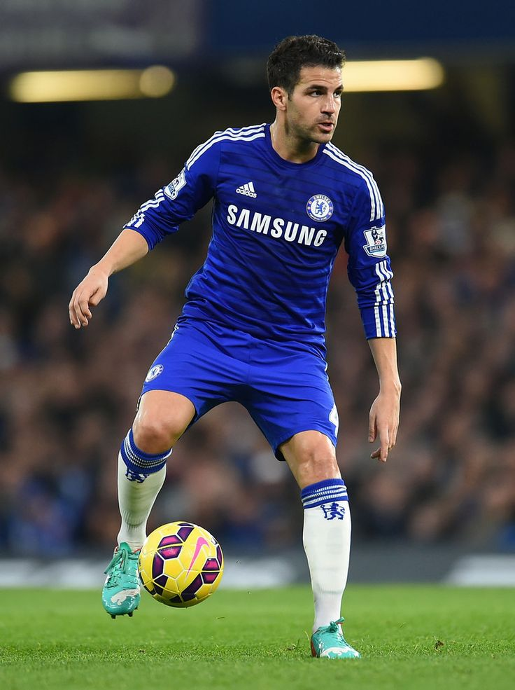 Cesc Fabregas of Chelsea in action during the Barclays Premier League match between Chelsea and West Bromwich Albion at Stamford Bridge on November 22, 2014 in London, England.