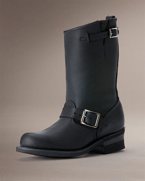 Frye Engineer 12r boots in black