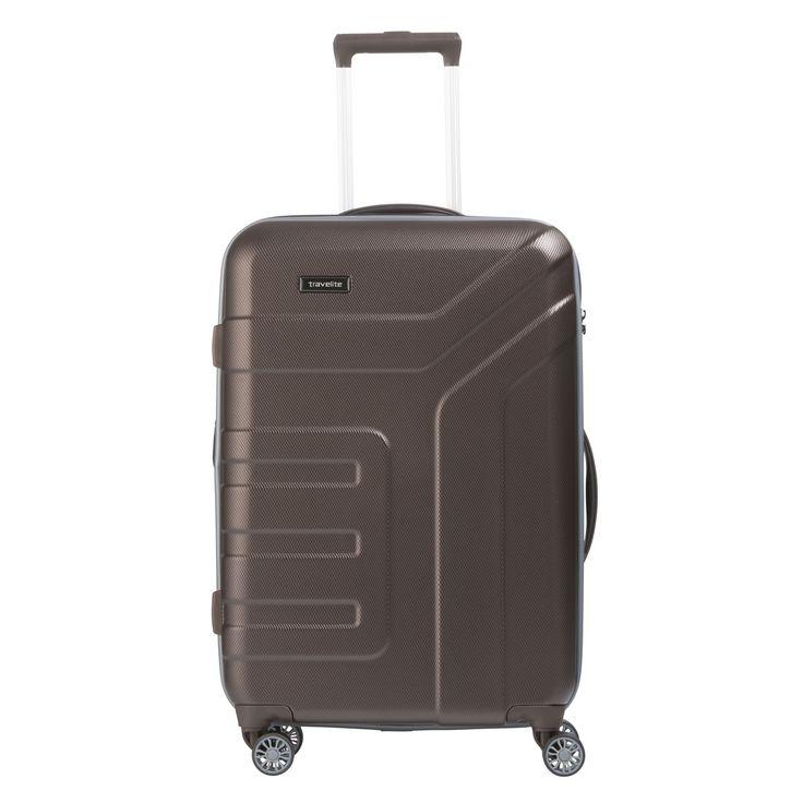Mittelgroßer #Koffer travelite Vector bei Koffermarkt: ✓Hartschale ✓braun ✓4 Rollen ✓erweiterbares Volumen ⇒Jetzt kaufen