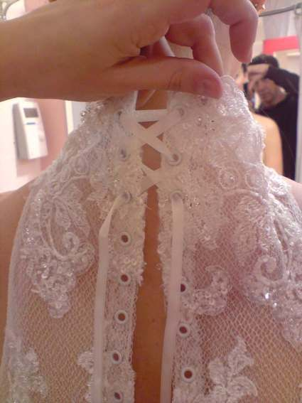 Robe de mariée Mariées de Paris modèle Hélaïde T38 d'occasion