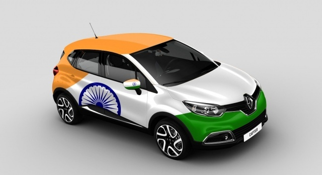 Vote For The Indian Flag On A Renault Car Indian Flag