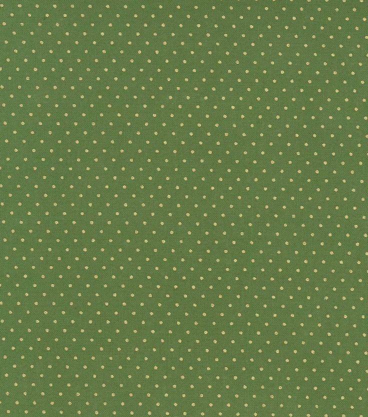 Holiday Inspirations-Green & Gold Pindot Fabric