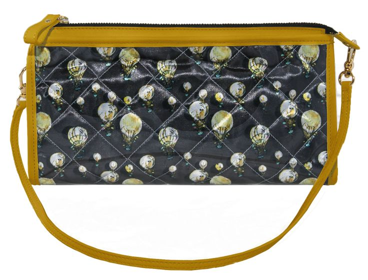 Crystal Clutch Bi-color Anthracite Yellow http://federicalunello.com #federicalunello #bags #accessories #handmade #madeinitaly