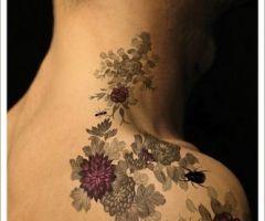 tattoo: Tattoo Ideas, Color, Flowertattoo, Body Art, Tattoo'S, Flower Tattoos, Floral Tattoo, Tatoo, Ink