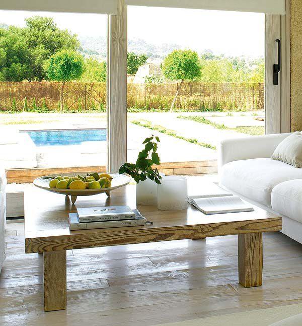 Una casa para vivir el campo - Ideas para forrar una pared ...