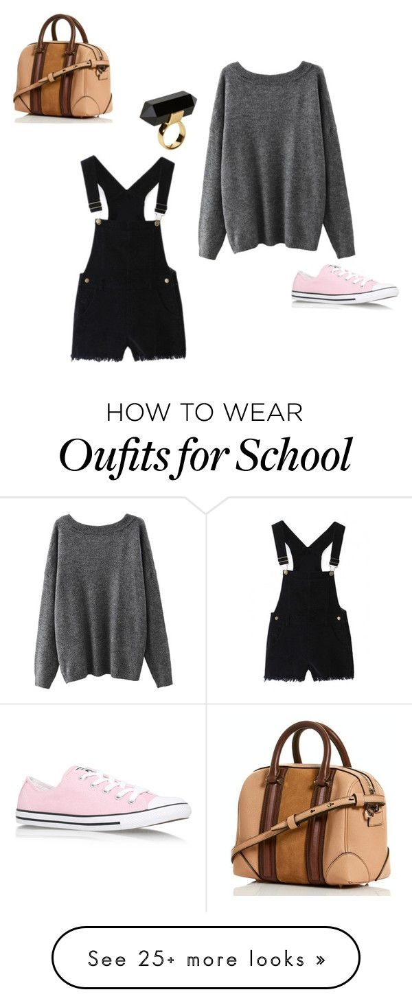 """""""Easy school outfit"""" by stilababe44 on Polyvore featuring Converse and Monki"""