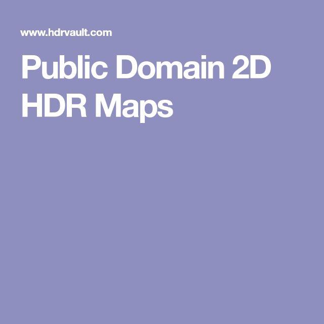 Public Domain 2D HDR Maps