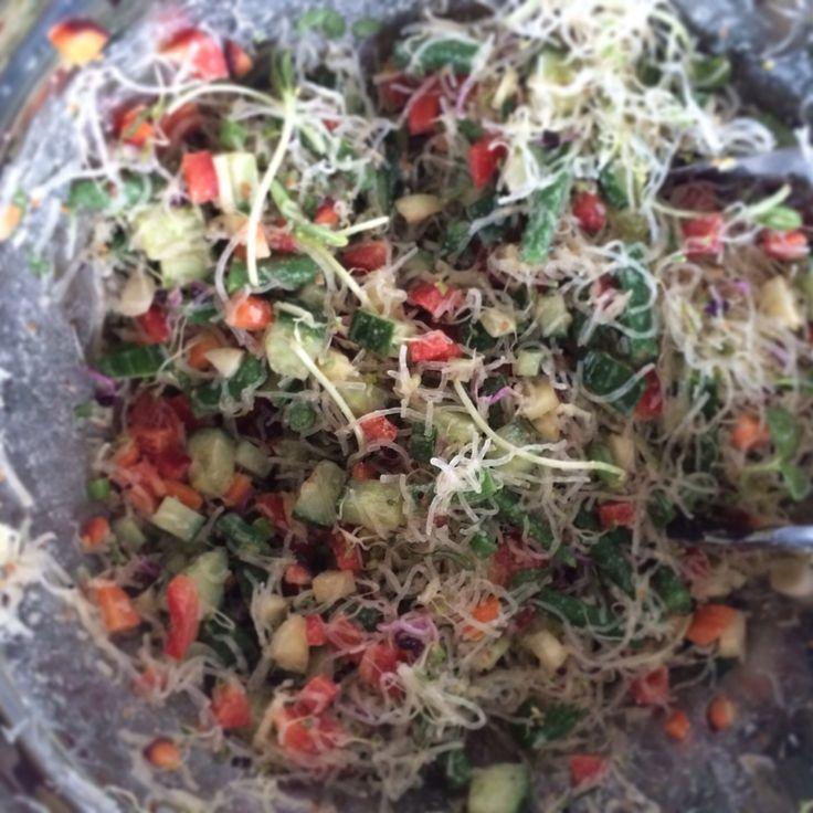 Kelp noodles salad - Salade de nouilles de Kelp vinaigrette au miso