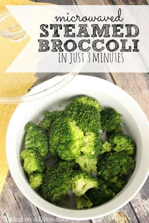 How to Steam Broccoli in the Microwave in only 3 minutes. Yes, you can have perfectly cooked broccoli with no water and hardly any work!
