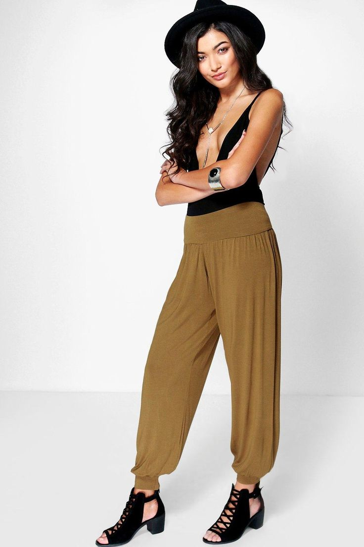 Lena Basic Jersey Hareem Trousers