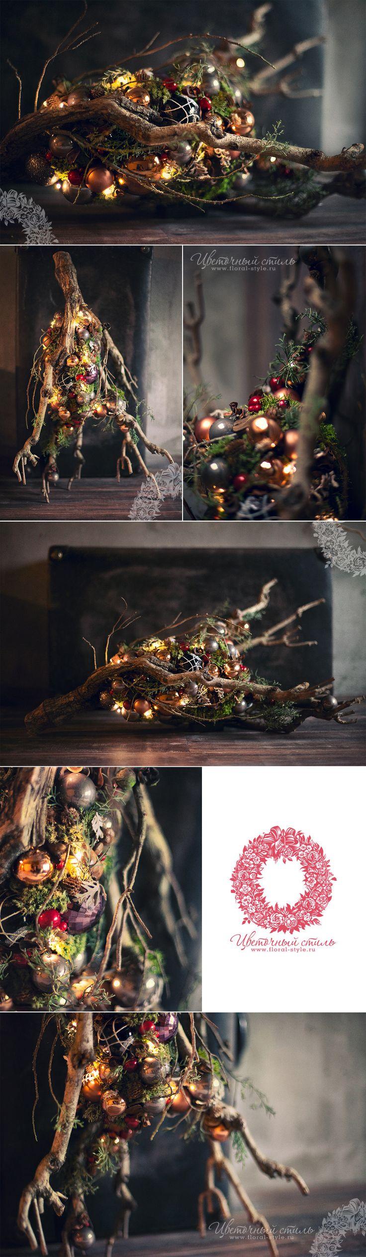 Новогодние композиции в галерее бутиков Mon Plaisir, DEKAPT, Ermenegildo Zegna