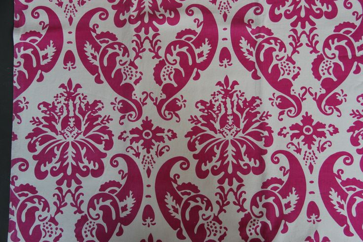 Canvas Damask red