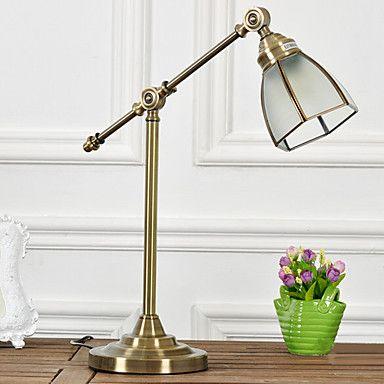 Traditionella / Classic Copper Arm Bordslampa - SEK Kr. 957