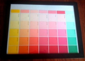 cute diy calender paint chips... This is my mission for the evening