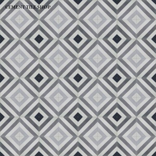 Cement Tile Shop - Encaustic Cement Tile | Oxford Charcoal