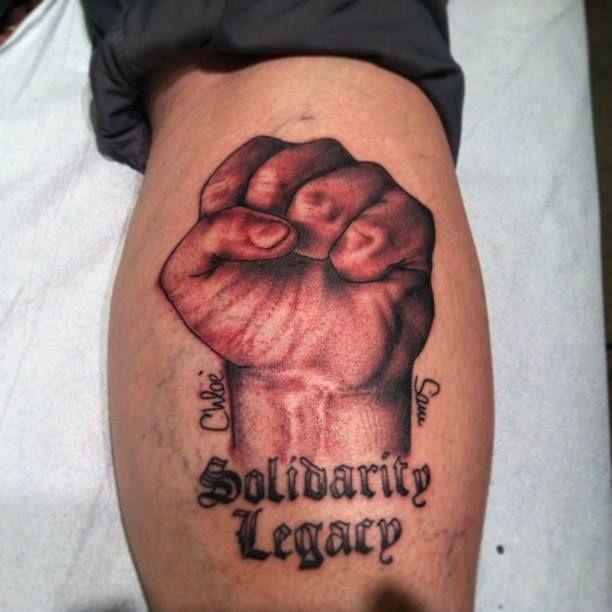 Tattoos on fist