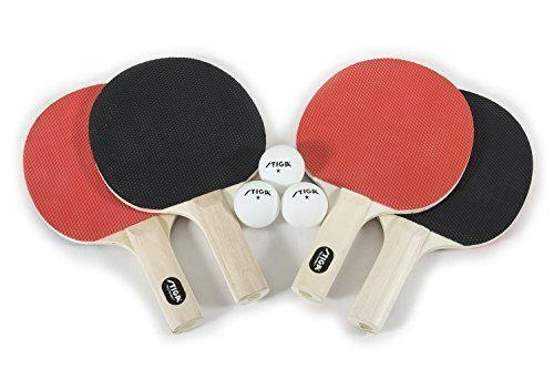 ICYMI: Table Tennis Rackets 4 Player Ping Pong Bat 3 Balls Racket Paddle Sport Set