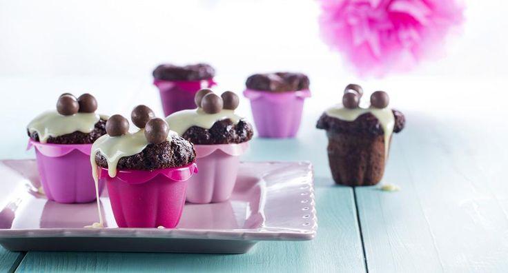 Cupcakes decadentes de chocolate - http://www.entretaxos.com/cupcakes-decadentes-de-chocolate/