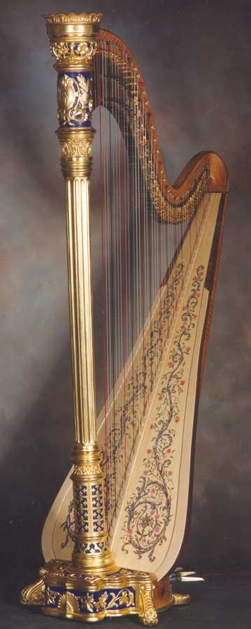 Beautiful harp. It is the national musical emblem of Wales.