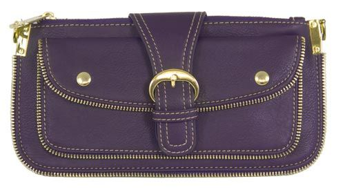 Convertible Purple Clutch Purse with Buckle - $34.50 at The Purple Store