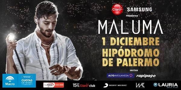 MALUMA en Argentina el 1 de diciembre en el Hipódromo de Palermo