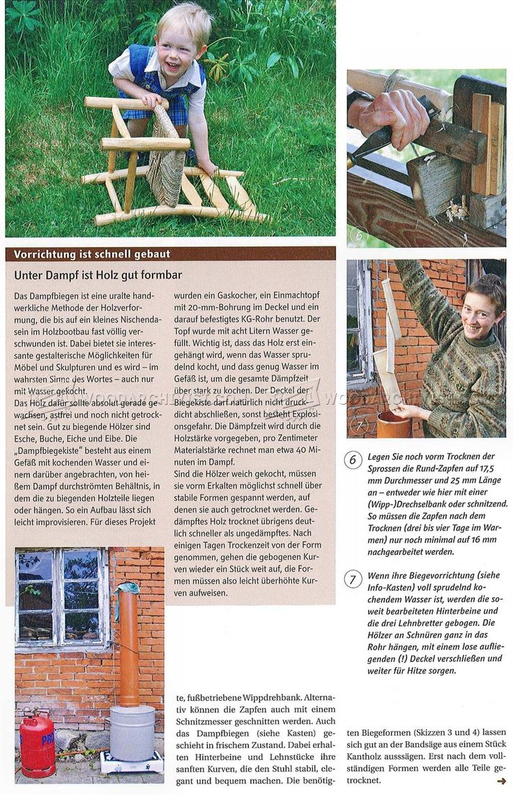 Rustic Kids Chair Plans - Children's Furniture Plans