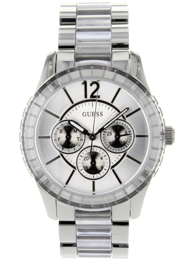 Price:$124.11 #watches Guess W13582L2, Stainless steel case, Stainless steel bracelet, Silver dial, Quartz movement, Scratch-resistant mineral, Water resistant up to 5 ATM - 50 meters - 165 feet