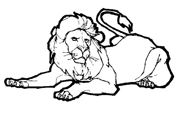 Lion Coloring Book Pictures