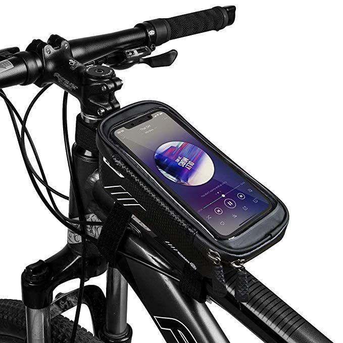 Bike Bicycle Front Frame Bag Cycling Waterproof Fits Phones Case Below 6.5 Inch