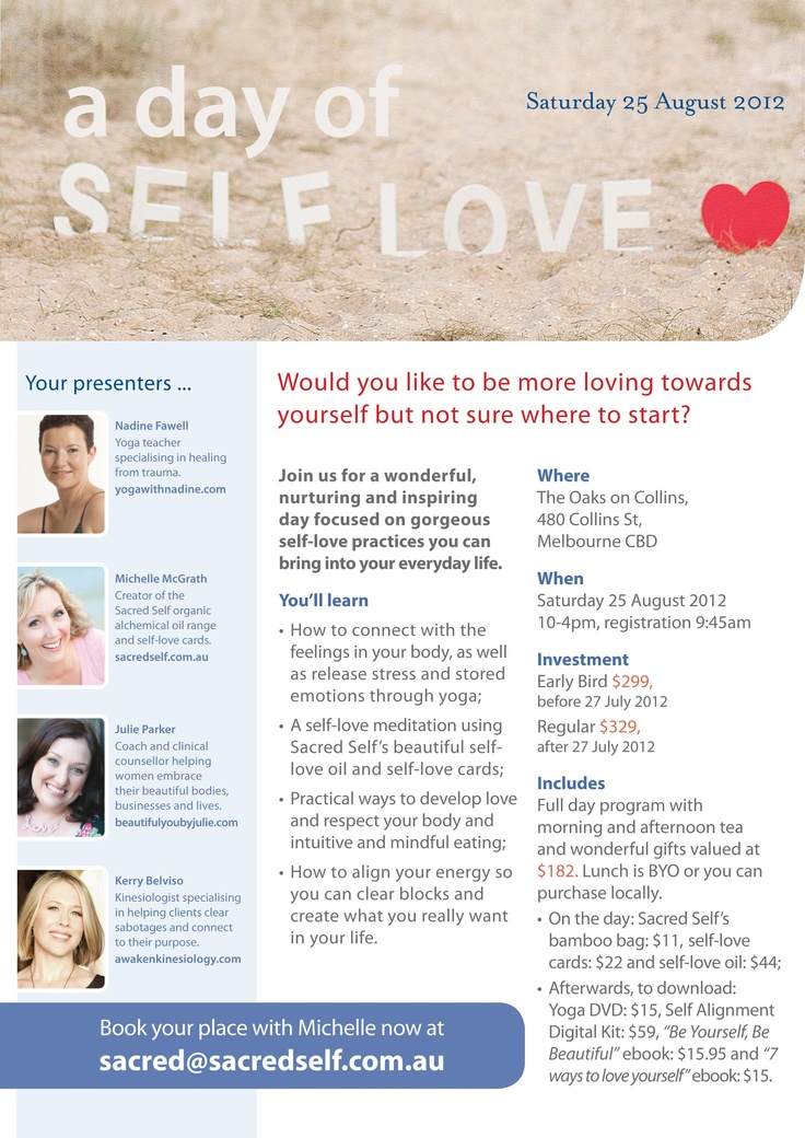A day of self-love in Melbourne - 25th August 2012