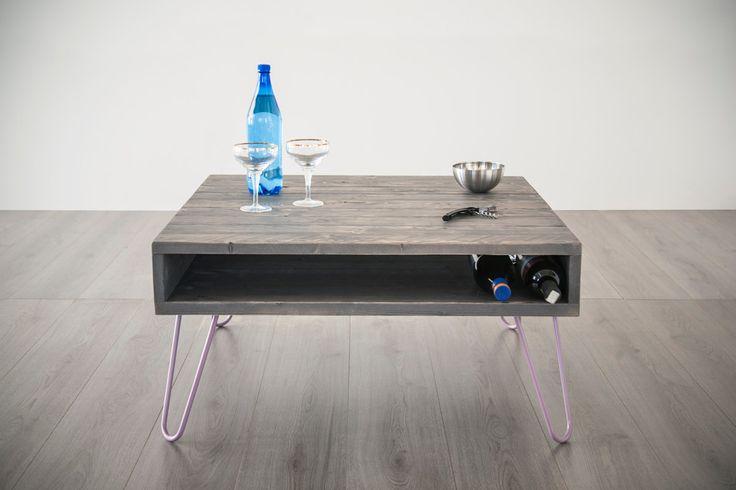 tavolino da caffè  60x90cm, tavolo basso personalizzabile, media console, legno massello colore Ash Grey, piano e gambe personalizzabili di dokke su Etsy