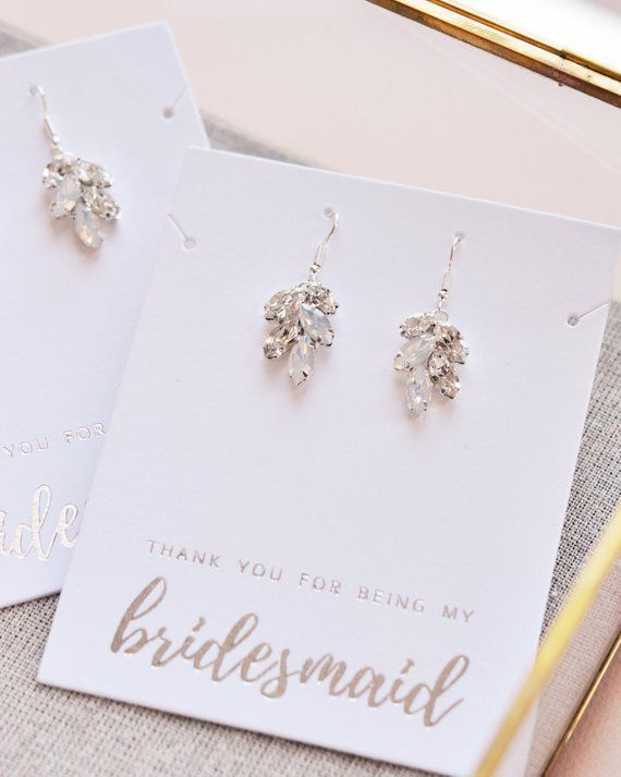 Custom Personalized Bridesmaid gifts round zirconia earrings Bridesmaid earring Bridesmaid earrings wedding earrings bridal party gifts